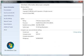 tentang TweakUI untuk mengatur settingan Windows Vista dan Windows 7