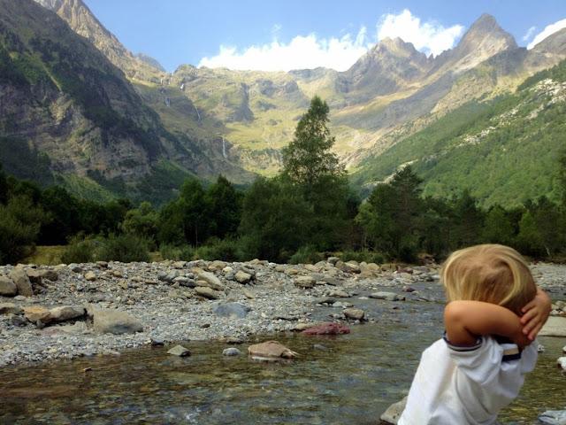 El riu Cinca als peus del circ de Pineta