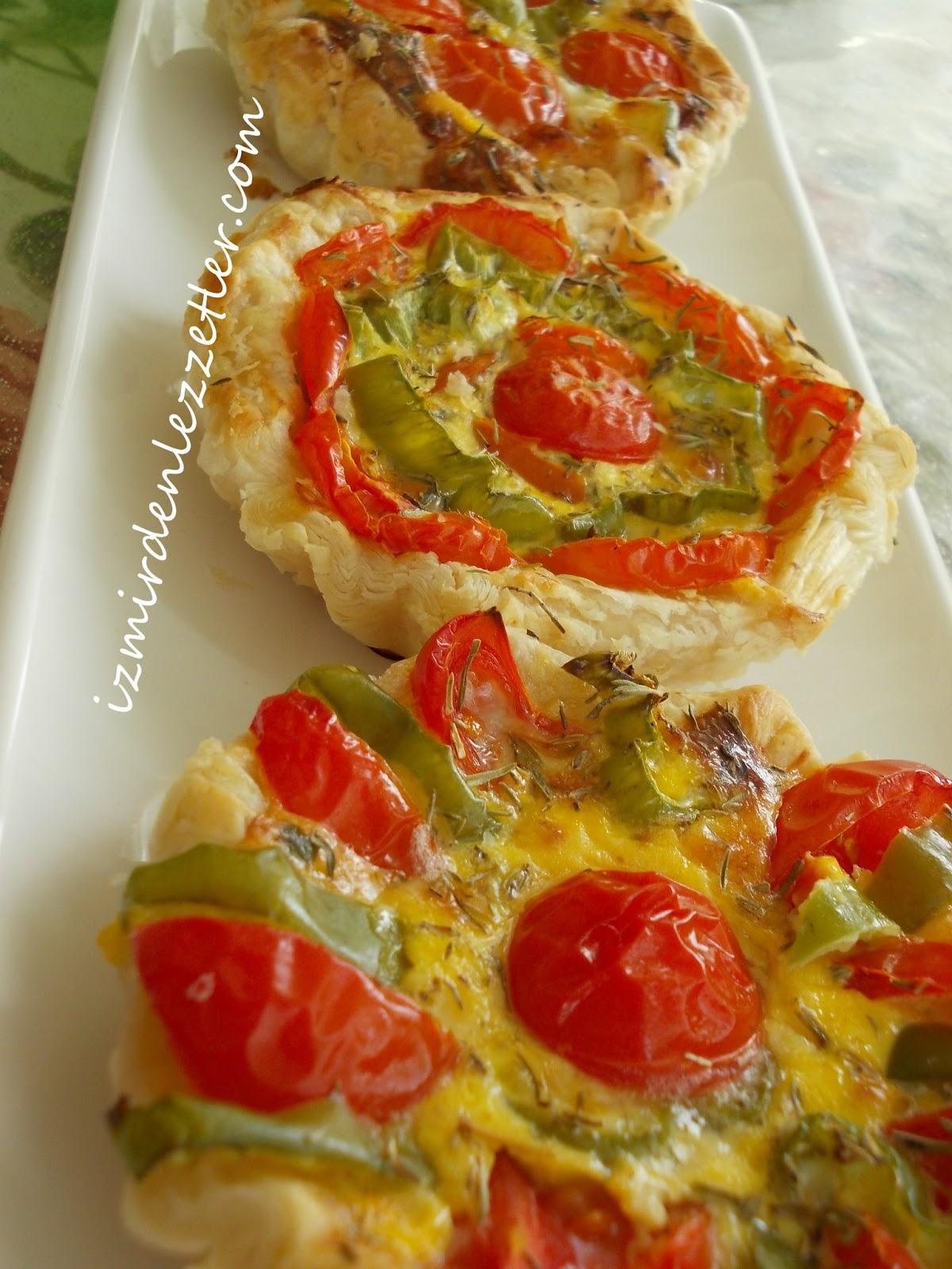 Beyaz peynirli domates çanağı tarifi