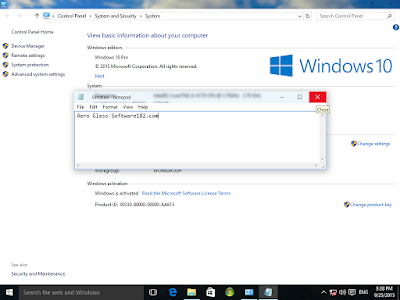 Windows 10 Aero Glass