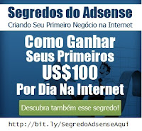 "Site oficial Curso ""Segredos do AdSense"""