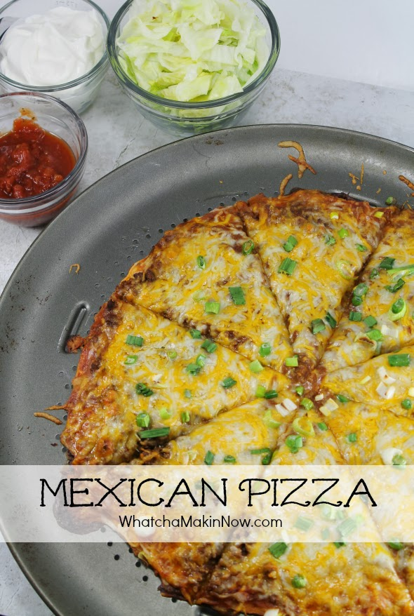 Super delicious Mexican / Taco Pizza - Change up taco night with this pizza!