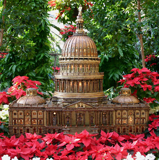Photo of Capitol Building miniature in United States Botanical Garden