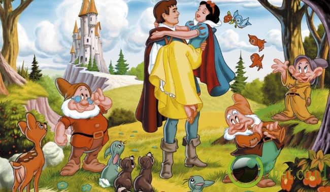 dari dongeng dongeng populer tersebut 1 snow white seven dwarfs
