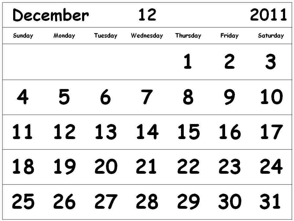 calendars printable 2011. Printable 2011 Calendar