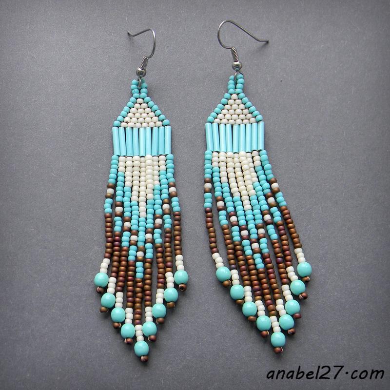 seed bead earrings beadwork jewelry ethnic