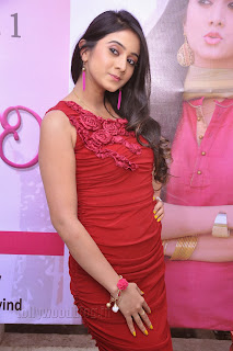 Harshika Pooncha latest Pictures in red 016.jpg