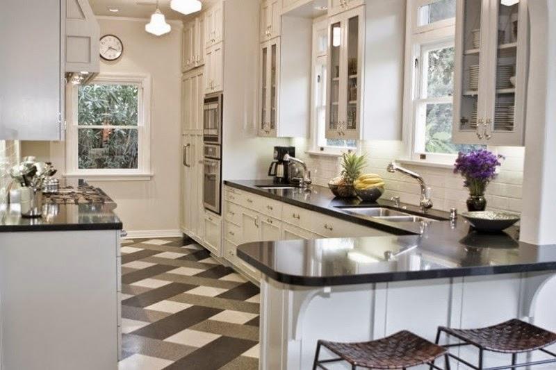 Gambar Desain Keramik Lantai Dapur Rumah Keren