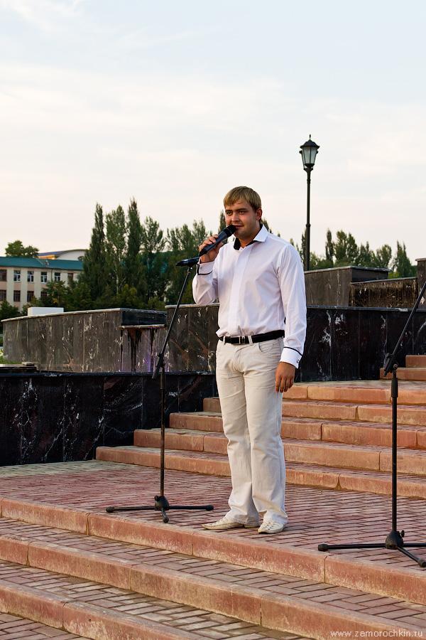 На открытии фонтанного комплекса Навеки с Россией