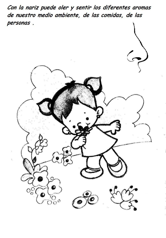 Dibujos del sentido del tacto para colorear - Imagui