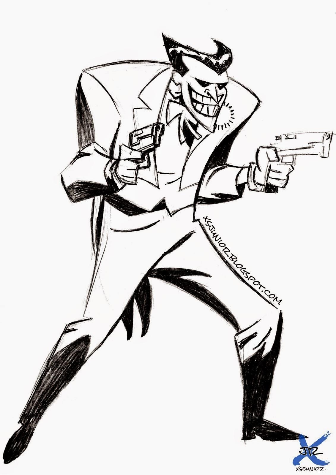 Dibujo con lapiz dibujo del joker para entrenar l neas y for Papel para dibujar
