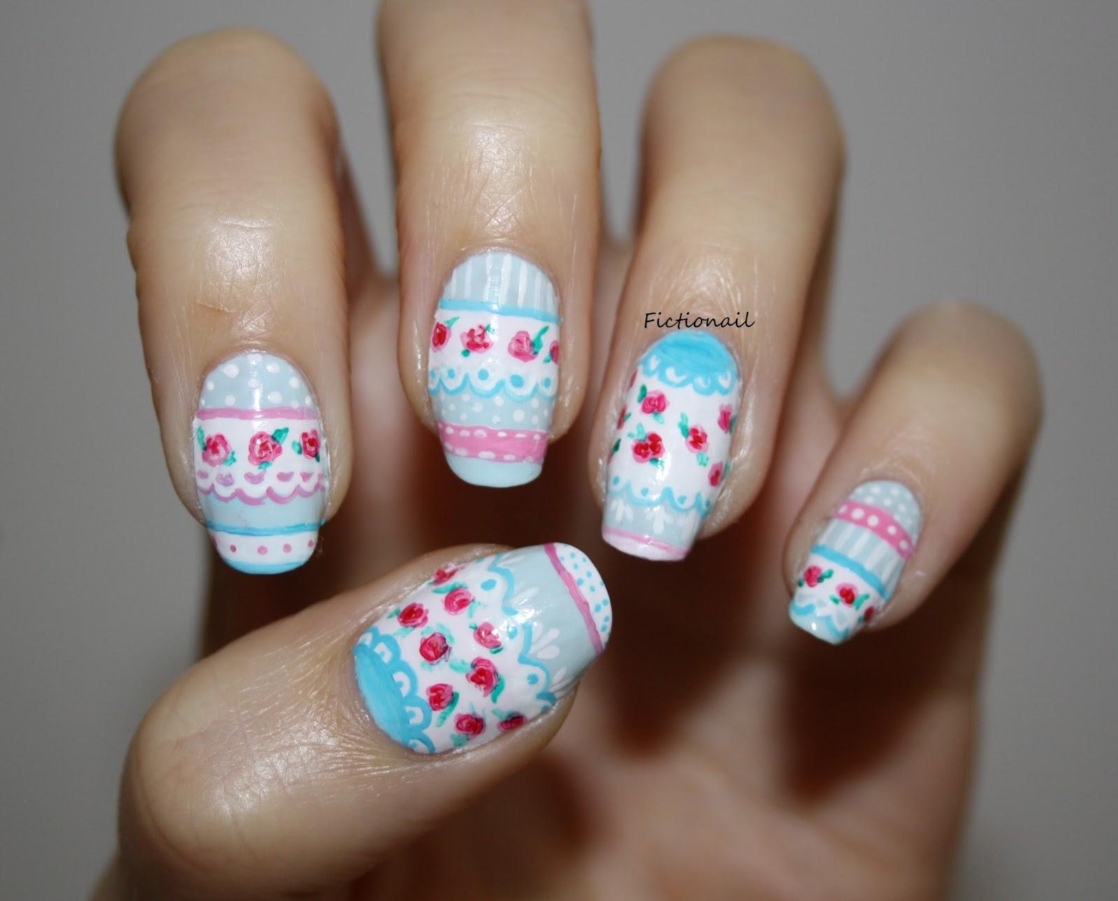 Vintage rose nails prinsesfo Choice Image