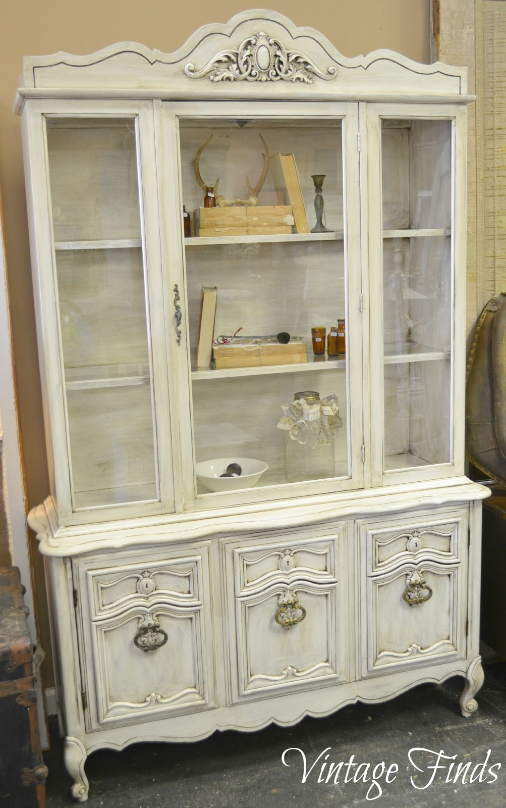 We Also Scraped The Gold Decals Off Of The Glass Panes For A More  Clean Lined Look. This Dated China Cabinet ...