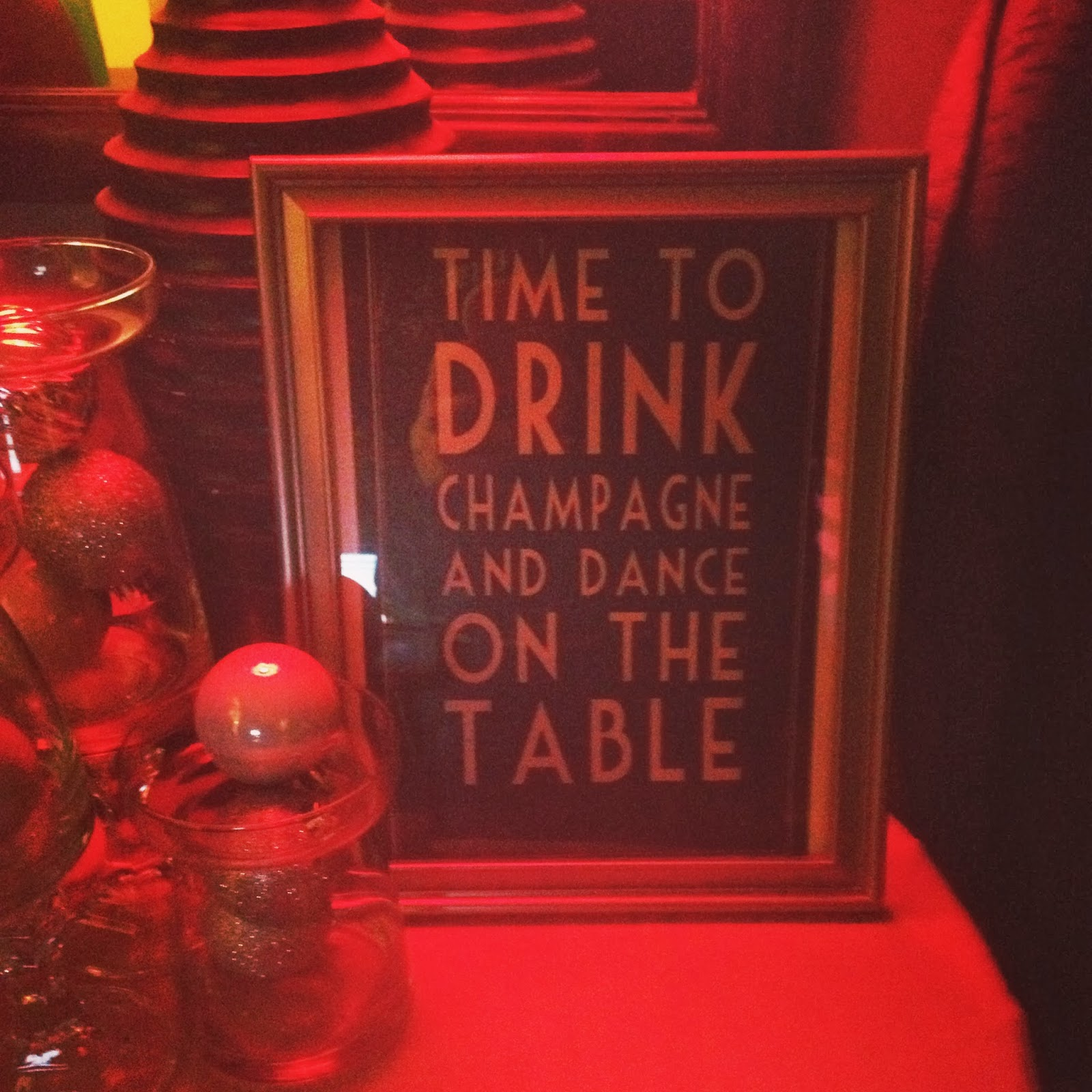 End of the Roaring 20s Speakeasy Birthday Party decor
