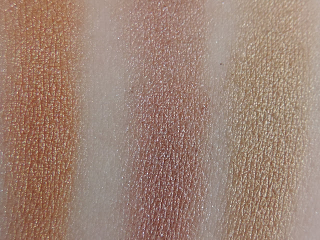 Swatches Of Makeup Revolution Euphoria Palette - Bronzed
