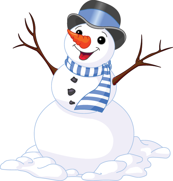 Cheerful Snowman Image