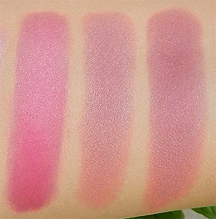 pink blush swatches