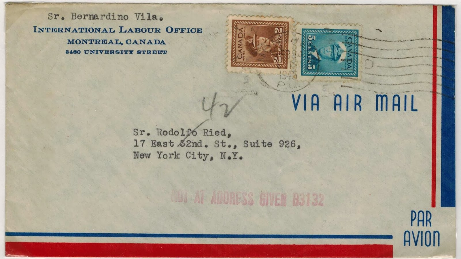 Postal History Corner Air Mail Letter Rates From Canada To The