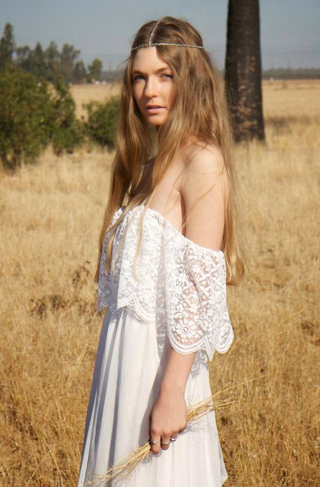 Hippie white wedding dresses sydney design Hippie vintage wedding dresses