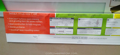 Messagestor Magnetic Dry Erase Board with markers, eraser, and magnets