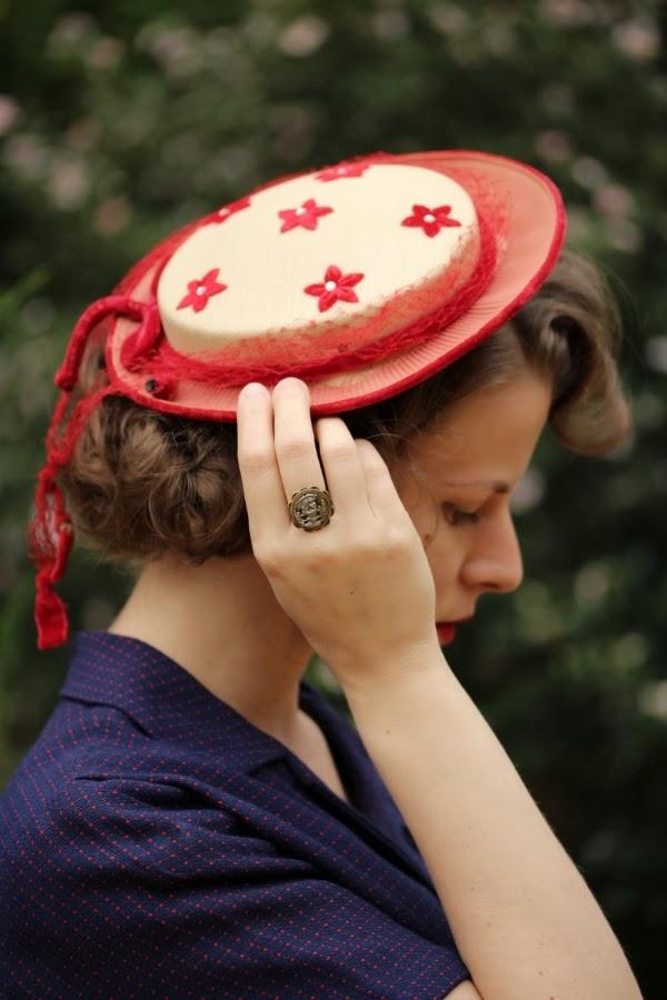 Vintage Hat Detail #vintage #hat #1950s #1960s