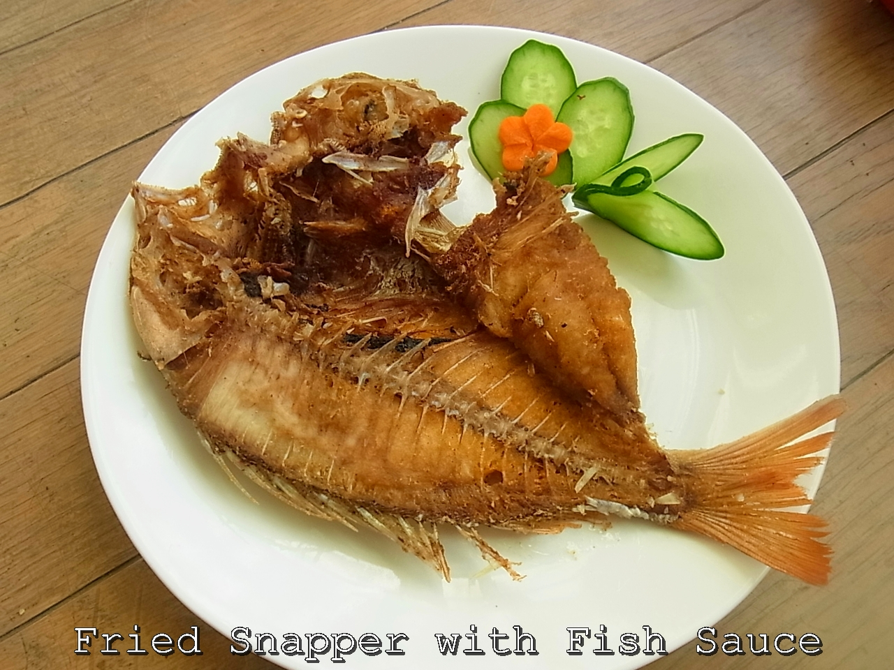 Taste of siam fried red snapper with fish sauce for Red fish taste
