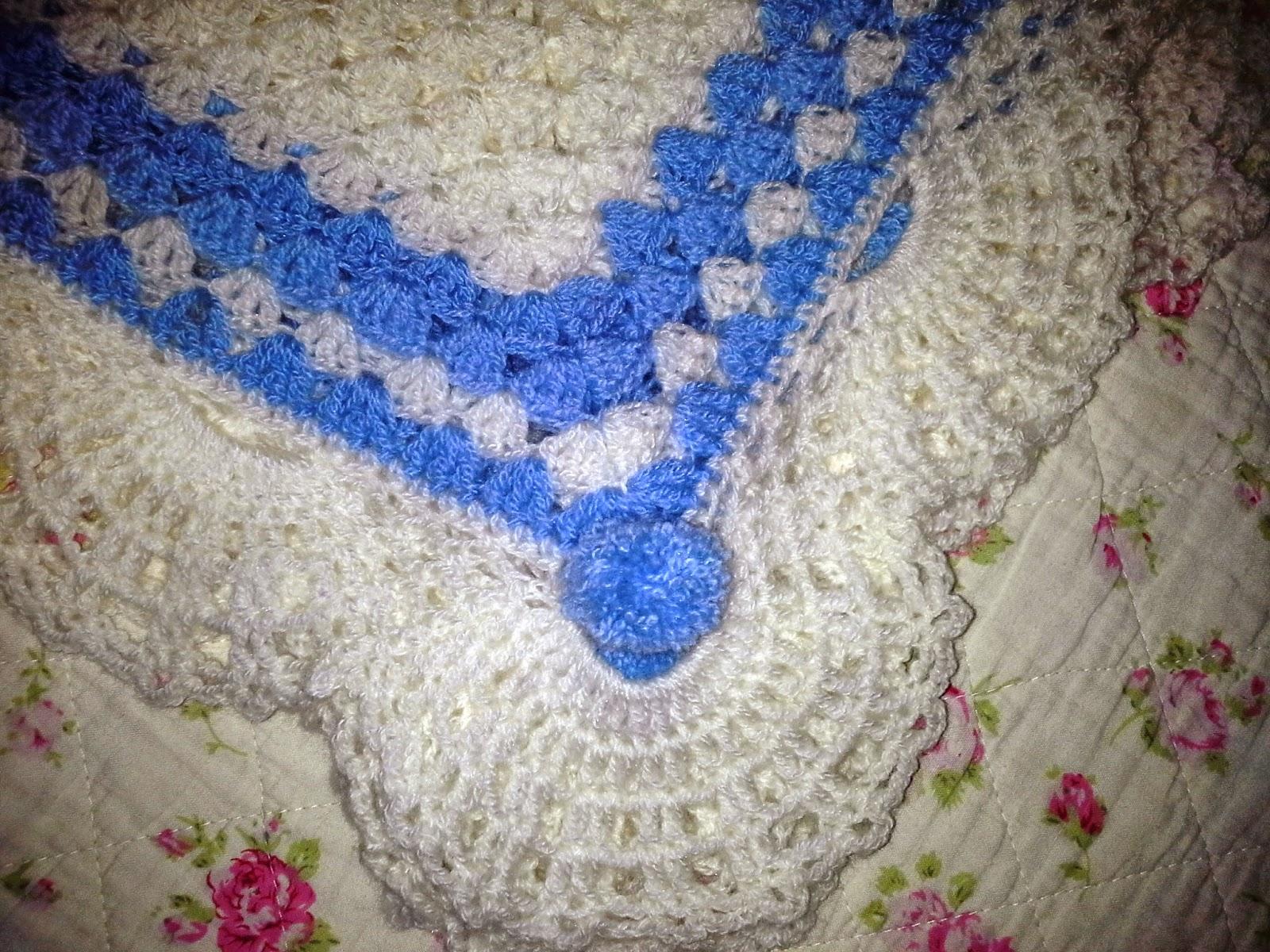 Melissa melina crochet couverture pour b b au crochet - Bordure de finition au crochet ...