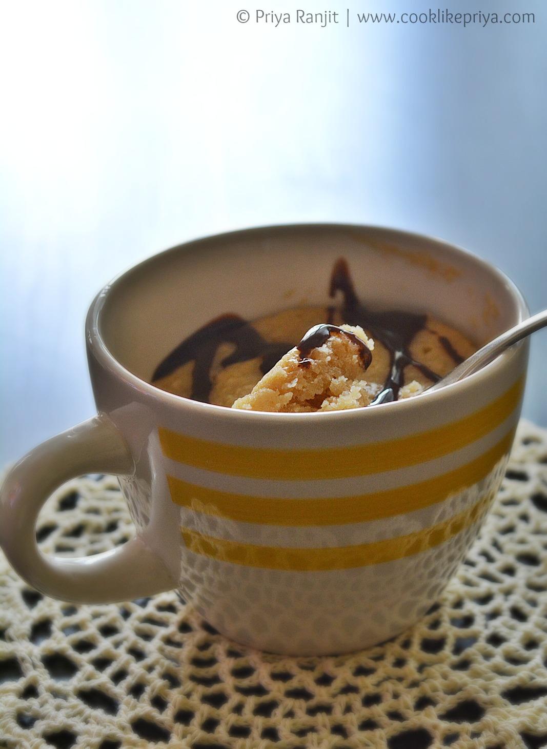 Vanilla microwave mug cake recipe