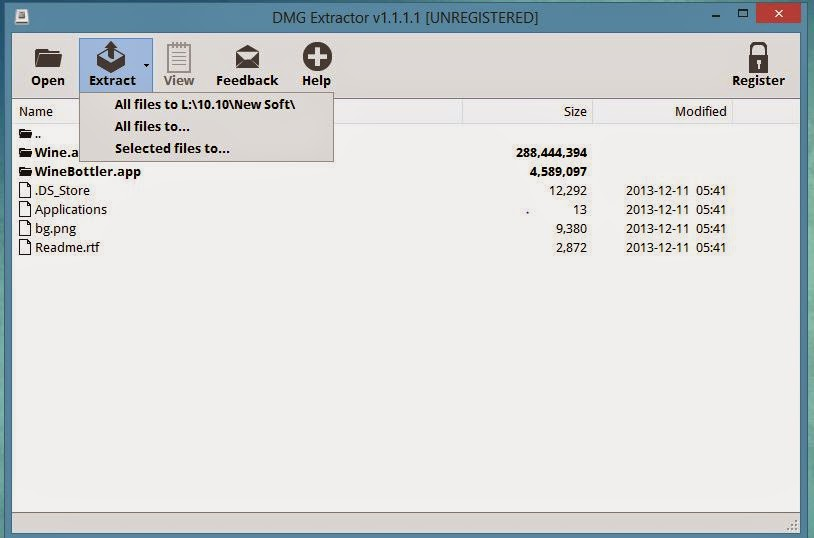 .dmg files windows