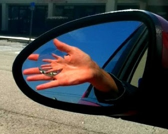 Hand in Hand car mirror
