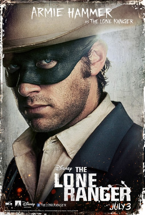 Lone Ranger Armie Hammer poster