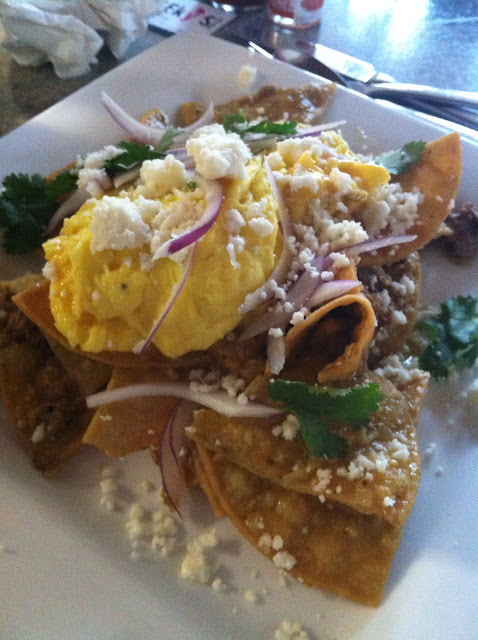 breakfast chilaquiles at cheeky's palm springs california, cheekys, Cheeky's cafe palm springs, food, brunch, beckycharms, palm springs, san diego, celebrity, foodie, eat, restaurant, review