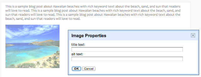 Blogger SEO For Images