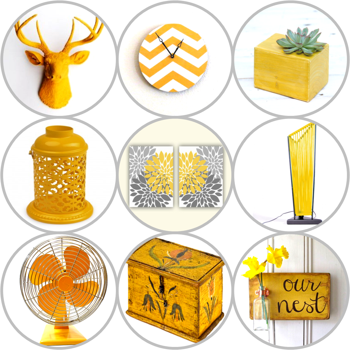quirky home decor - mustard