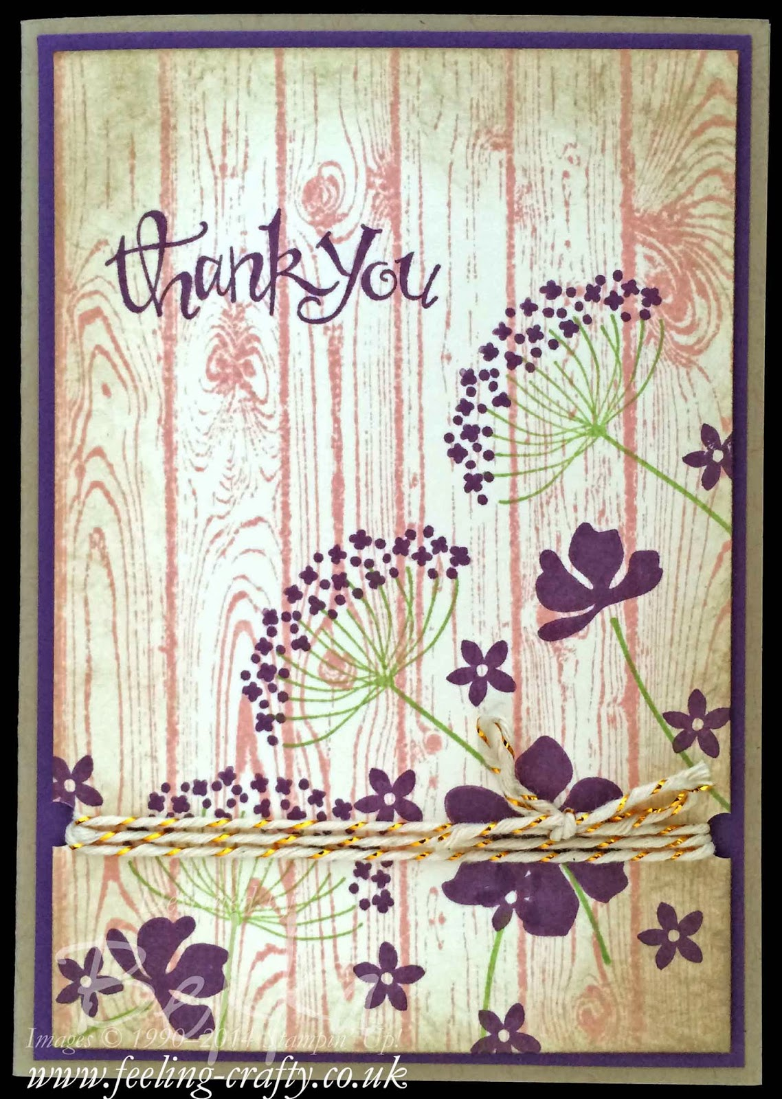 Thank You card featuring the Summer Silhouettes Stamp Set from Stammpin' Up! UK Independent Demonstrator Bekka - check her blog for lots of cute ideas