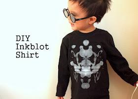 DIY Inkblot shirt for kids