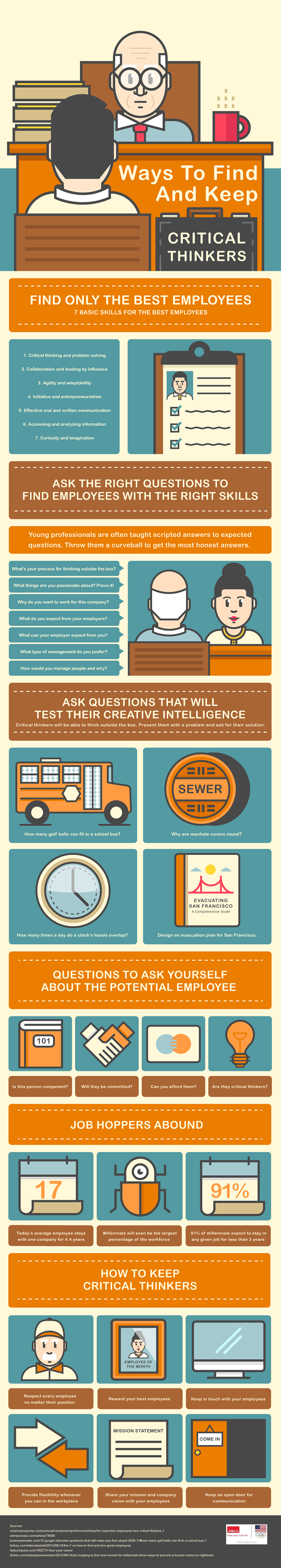 Ways to Find and Keep Critical Thinkers #infographic