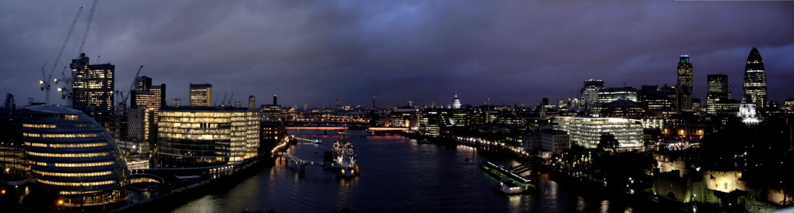 City of London Panorama Wallpaper  2000x521  ID24413