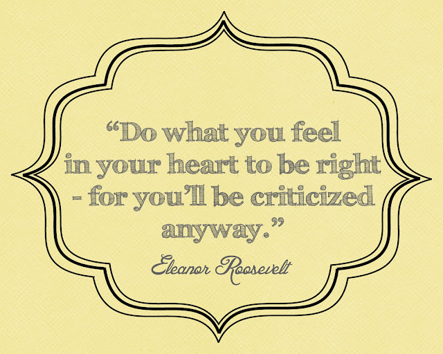 This is a quote by Eleanor Roosevelt.