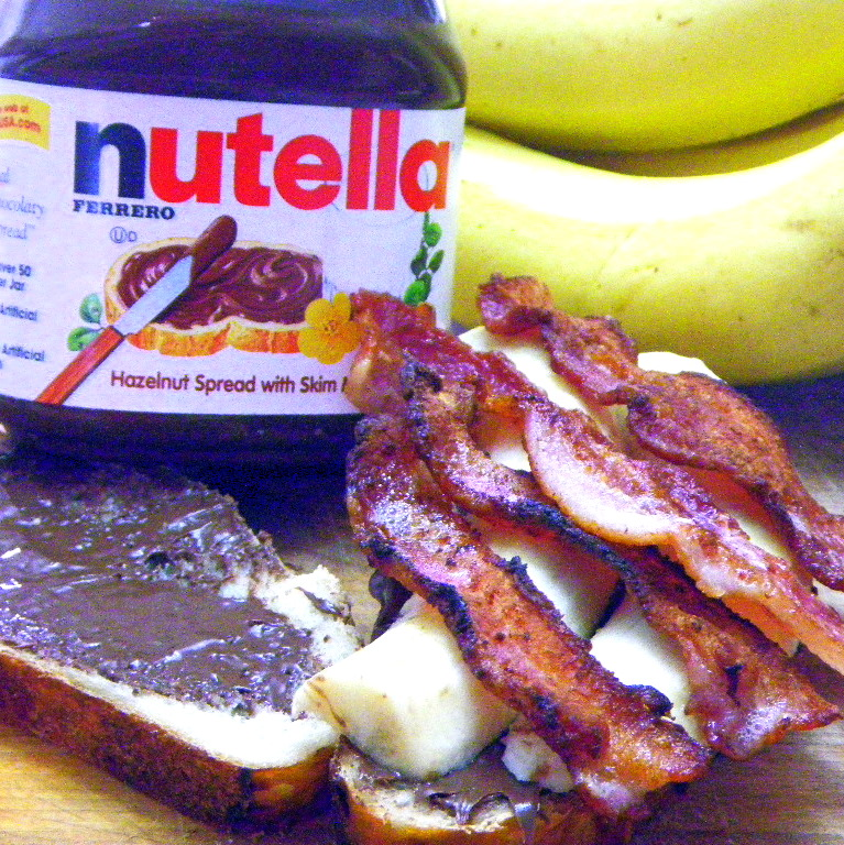 bacon nutella sandwich