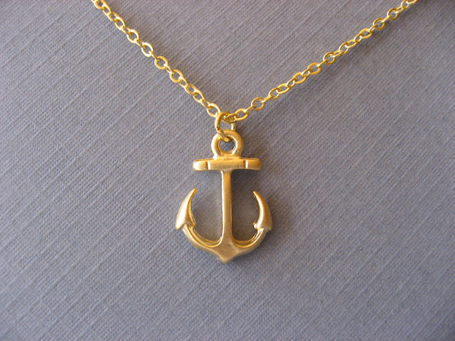 Gold Anchor Necklace6
