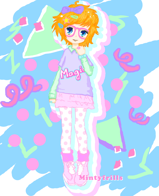 drawing cute people pastel fashion