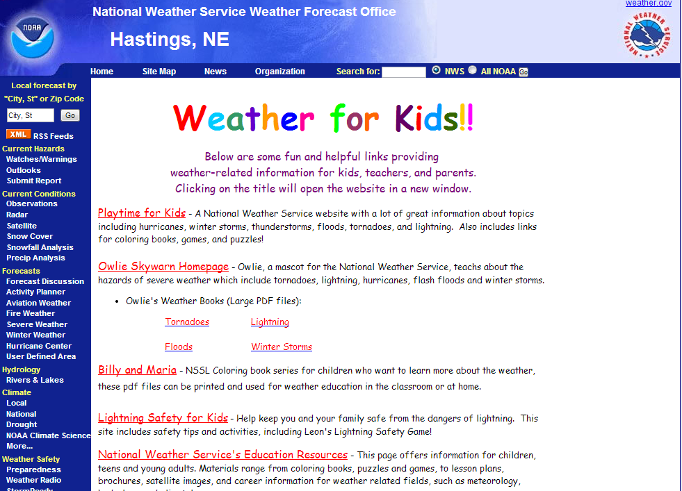 noaa weather for kids contains a collection of links to weather related activities there are games information and educational resources to help - Weather Pics For Kids