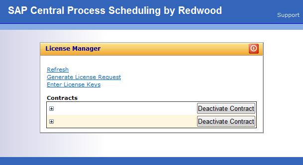 SAP Redwood License Screens ~ SAP REDWOOD ADMINISTRATION