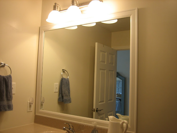 DIY Frame Existing Bathroom Mirror