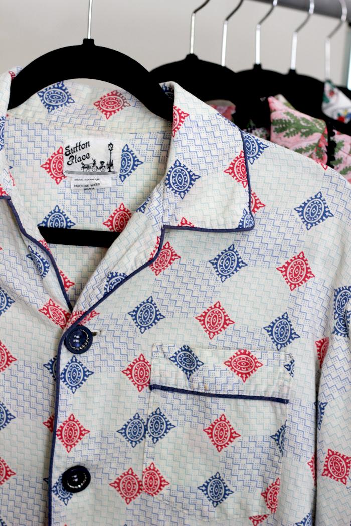 vintage pajama top