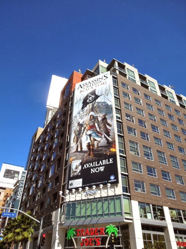 Assassins Creed 4 Black Flag video game billboard