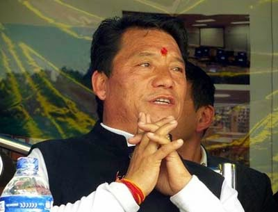 Chief of the Gorkha Jan Mukti Morcha (GJMM) and Gorkhaland Territorial Administration (GTA), Bimal Gurung