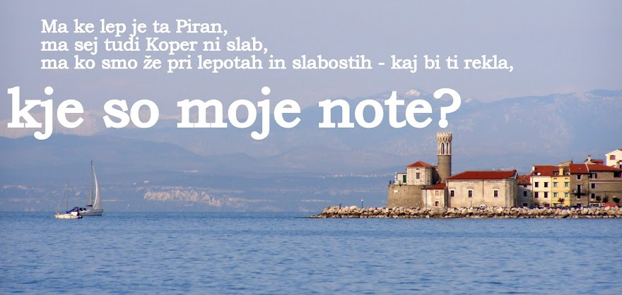 Kje so moje note?