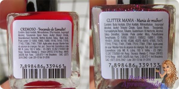 Comparação dos rótulos Tuila